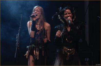 Sara and Annicke singing their lungs out!