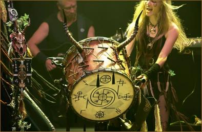 Sara banging the drum with passion!