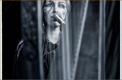 Through the strings...